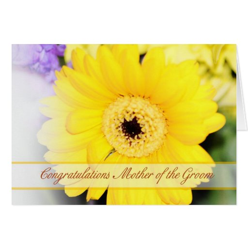 Mother of the Groom Congratulations card with flow