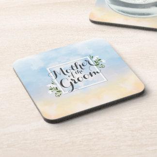 Mother of the Groom Elegant Frame Wedding Coaster