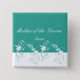 Mother of the Groom Elegant wedding 15 Cm Square Badge