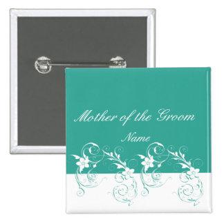 Mother of the Groom Elegant wedding 15 Cm Square Badge