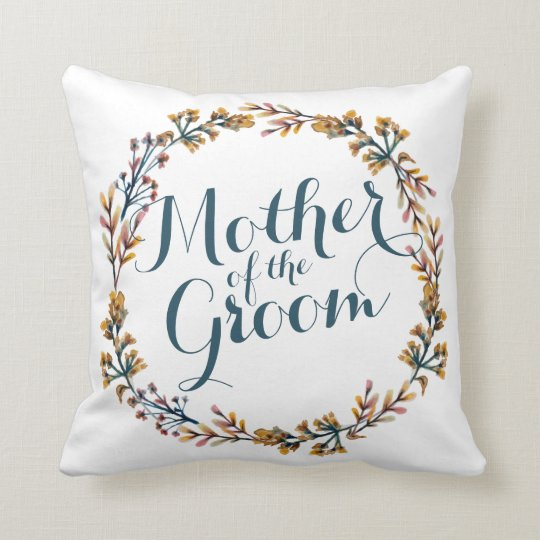 Mother of the Groom Elegant Wedding Throw Pillow