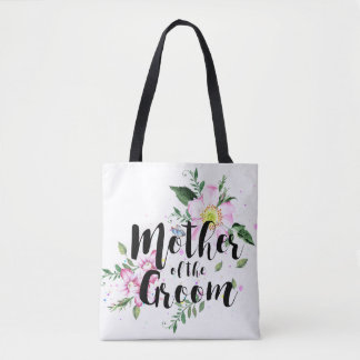 Mother of the Groom Floral Watercolor Wedding Tote Bag
