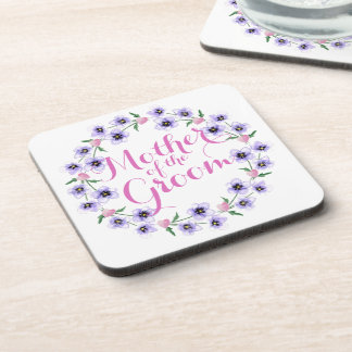 Mother of the Groom Floral Wedding Coaster