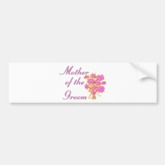 Mother Of The Groom Gold & Bouquet Bumper Sticker