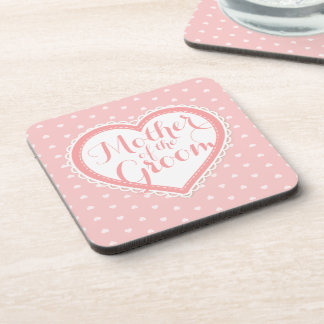Mother of the Groom Heart Frame Wedding | Coaster