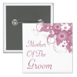 Mother Of The Groom Mauve Bouquet Button