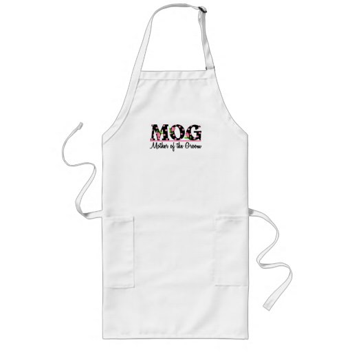 Mother of the Groom (MOG) Tulip Lettering Aprons