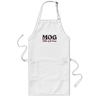 Mother of the Groom MOG Tulip Lettering Aprons