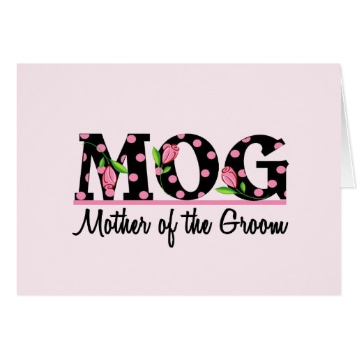 Mother of the Groom (MOG) Tulip Lettering Greeting Cards
