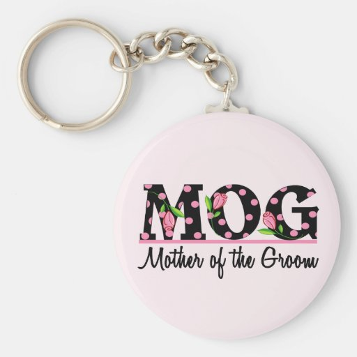 Mother of the Groom (MOG) Tulip Lettering Key Chains