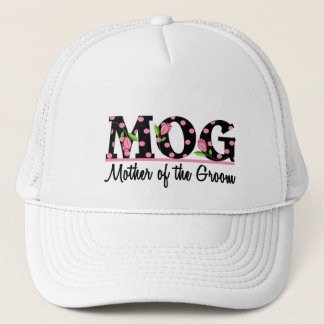Mother of the Groom (MOG) Tulip Lettering Trucker Hat