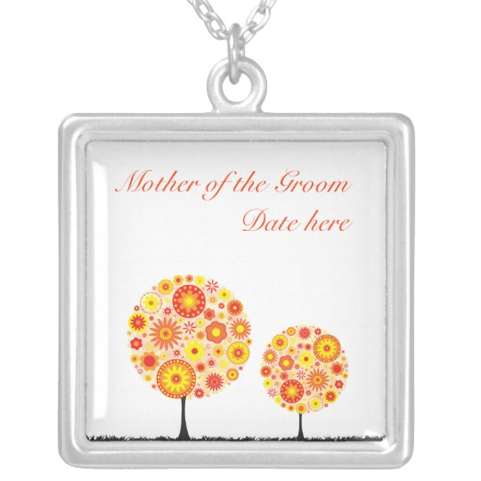 Mother of the Groom Necklace - Orange Flower Wishi