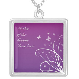 Mother of the Groom Necklace - Purple butterfly sw