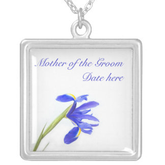 Mother of the Groom Necklace - Purple Iris Flower