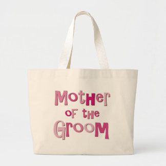 Mother of the Groom Pink Brown Large Tote Bag