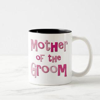 Mother of the Groom Pink Brown Two-Tone Coffee Mug