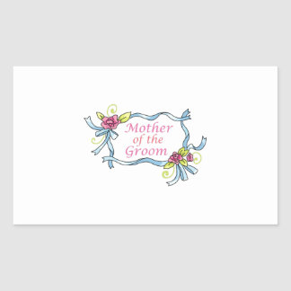 MOTHER OF THE GROOM RECTANGULAR STICKERS