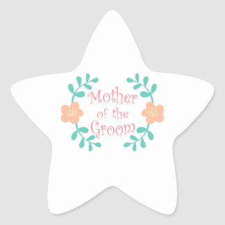 Mother of the Groom Star Sticker