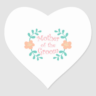 Mother of the Groom Heart Sticker