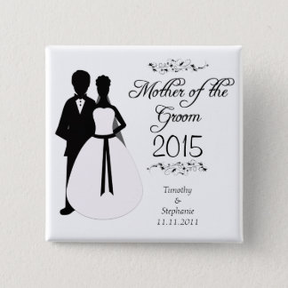 Mother of the groom swirls wedding favor button