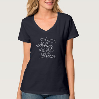 """Mother of the Groom"" Typography Hearts T-Shirt"