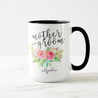 Mother of the Groom|Watercolor Floral Personalized Mug