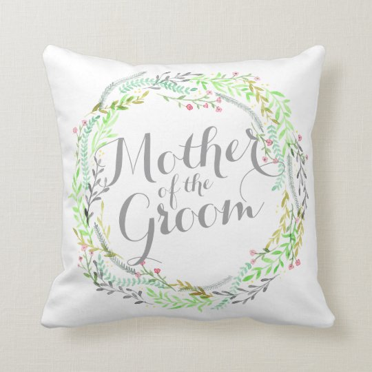 Mother of the Groom Watercolor Wedding  Pillow