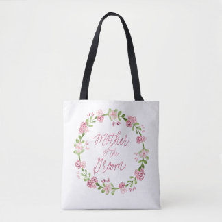 Mother of the Groom Watercolor Wreath Bag