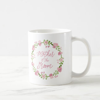 Mother of the Groom Watercolor Wreath Mug