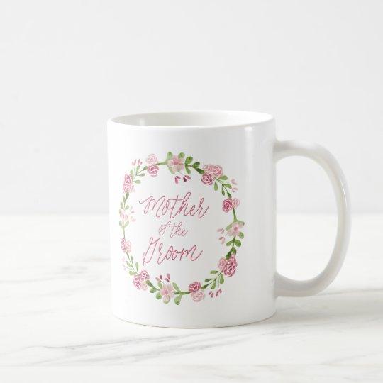 Mother of the Groom Watercolor Wreath Mug