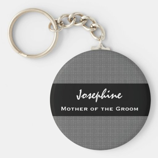 Mother of the Groom Wedding Favor Black and Silver Key Chain