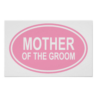 Mother of the Groom Wedding Oval Pink Print