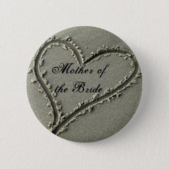 Mother ofthe Bride 6 Cm Round Badge