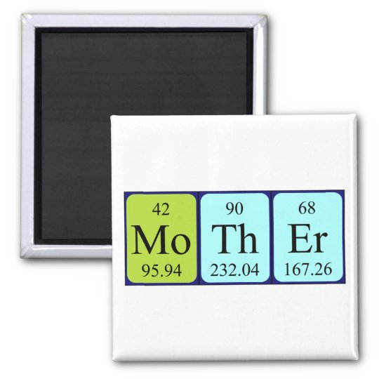 Mother periodic table name magnet