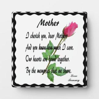 MOTHER-PLAQUE DISPLAY PLAQUE