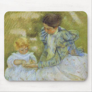 Mother Playing with Her Child. c.1897, Mary Cassat Mouse Pad