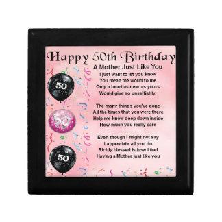Mother Poem  -  50th Birthday Gift Box