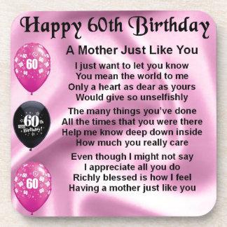 Mother Poem - 60th Birthday Coaster