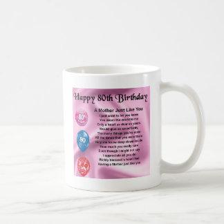 Mother Poem  -  80th Birthday Coffee Mug