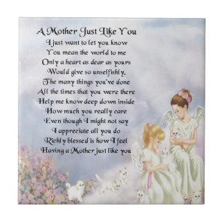 Mother Poem - Angels & Kittens Design Tile