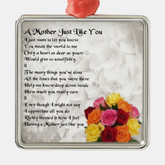 Mother Poem - Flowers Christmas Ornament