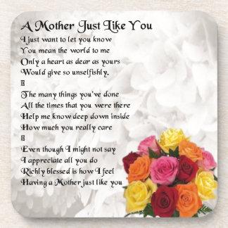 Mother Poem - Flowers Coaster