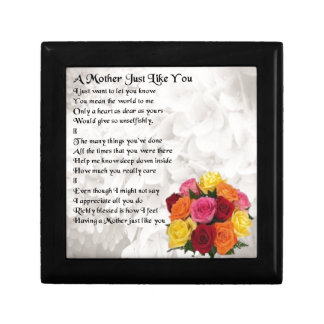 Mother Poem - Flowers Small Square Gift Box