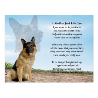 Mother poem - German Shepherd Dog Postcard