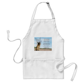 Mother poem - German Shepherd Dog Standard Apron