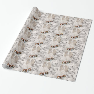 Mother Poem - King Charles Spaniel Design Wrapping Paper