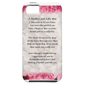 Mother poem - Pink Floral Border iPhone 5 Cover