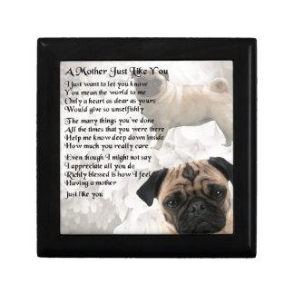 Mother Poem  -  Pug Design Gift Box