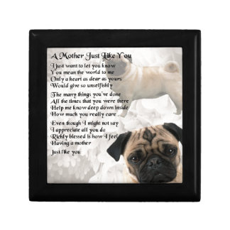 Mother Poem  -  Pug Design Small Square Gift Box