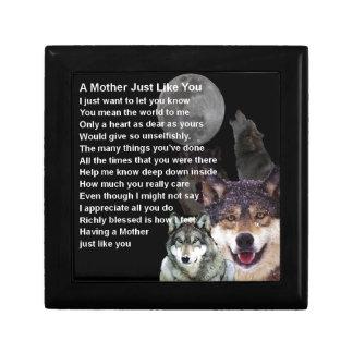 Mother Poem - Wolf Design Gift Box